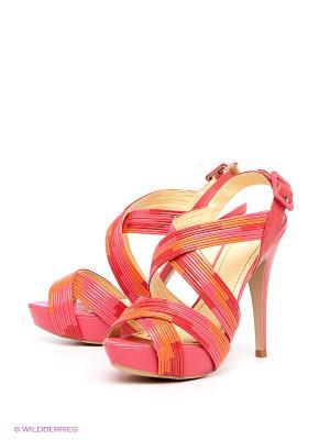Босоножки Mascotte. Цвет: розовый, красный, оранжевый