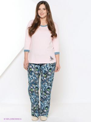 Пижама PELICAN. Цвет: синий, бледно-розовый