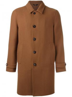 Пальто Locoro Hevo. Цвет: коричневый