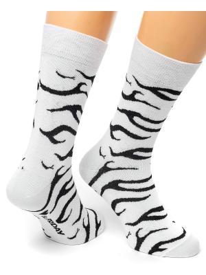Дизайнерские Носки St.Friday Socks. Цвет: белый