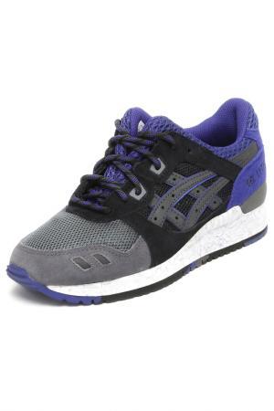 Кроссовки Asics. Цвет: серый, черный, фиолетовый