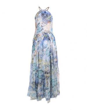 Длинное платье TENAX. Цвет: лазурный