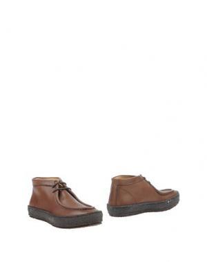 Полусапоги и высокие ботинки PANTOFOLA D'ORO. Цвет: темно-коричневый