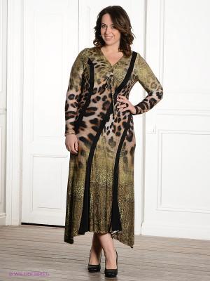 Платье Gemko plus size. Цвет: хаки