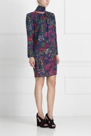 Хлопковое платье Libertine. Цвет: multicolor