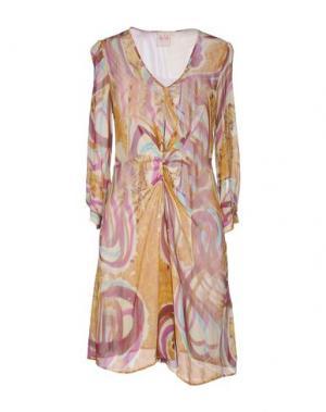 Короткое платье NOLITA. Цвет: охра