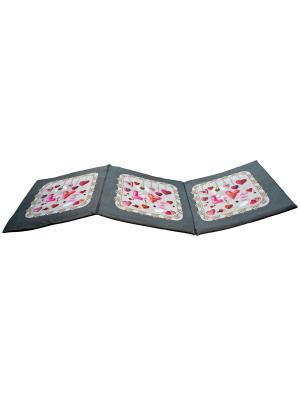 Сидушка лежак Gift'n'Home. Цвет: серый, красный, розовый