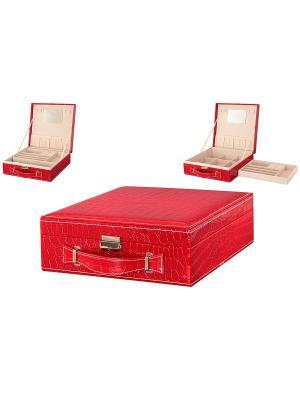 Шкатулка Розовый чемодан Elan Gallery. Цвет: розовый