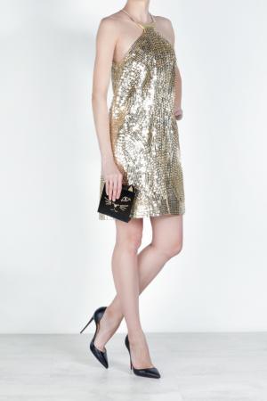 Шелковое платье Kaufmanfranco. Цвет: золотой
