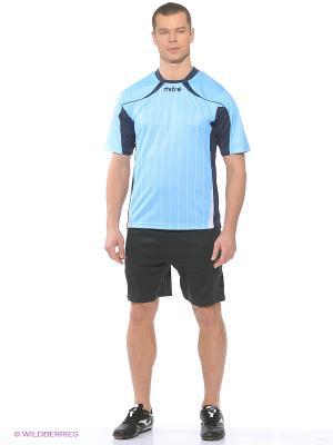 Футболка MITRE. Цвет: темно-синий, белый, голубой