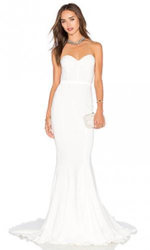Платье arianna Elle Zeitoune. Цвет: белый