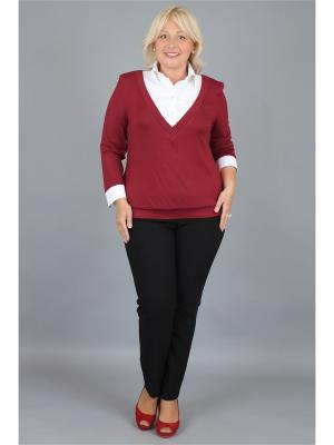 Блузка NadiN. Цвет: бордовый, белый