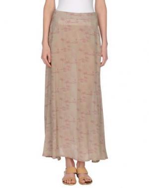 Длинная юбка MONOCROM. Цвет: бежевый