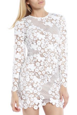 Платье-мини SELF-PORTRAIT. Цвет: белый