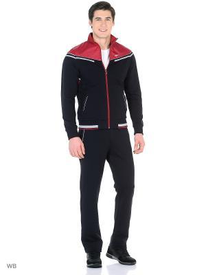 Спортивный костюм TAGERTON. Цвет: темно-синий, красный