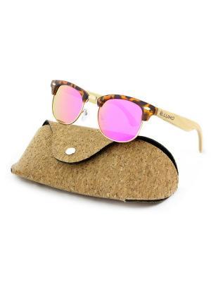 Модные солнцезащитные очки Lumo. Цвет: розовый