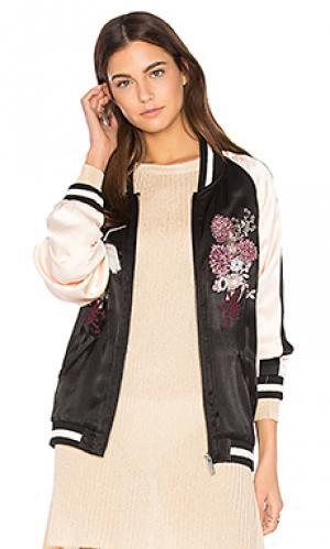 Свободная куртка-бомбер sakura blossom Sanctuary. Цвет: черный