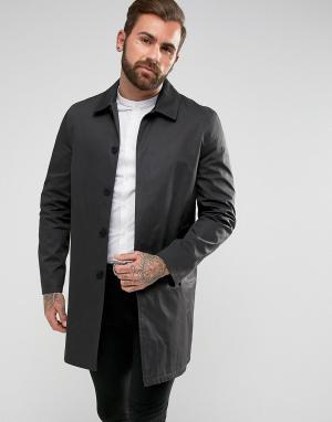 New Look Черный однобортный макинтош. Цвет: черный