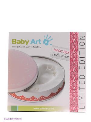 Коробочка с отпечатком Мэджик Бокс Baby Art. Цвет: розовый