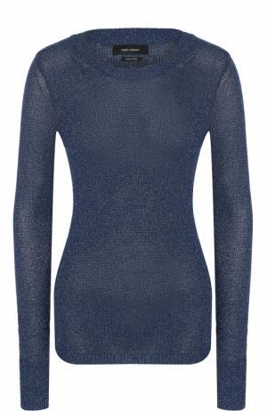 Облегающий пуловер с круглым вырезом Isabel Marant. Цвет: темно-синий