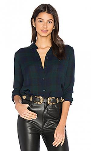 Рубашка с застёжкой на пуговицах mila baldwin. Цвет: синий