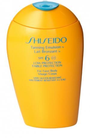 Эмульсия для загара c SPF 6 Shiseido. Цвет: бесцветный