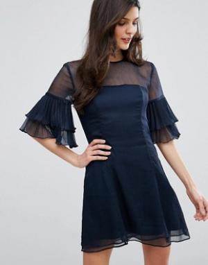 Keepsake Платье мини Say You Will. Цвет: синий