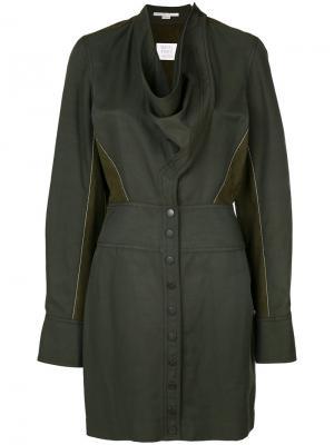 Платье с длинными рукавами Stella McCartney. Цвет: зелёный