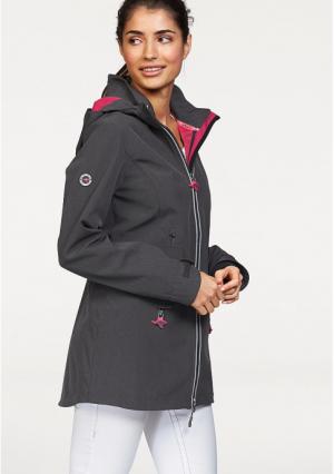 Куртка Kangaroos. Цвет: темно-серый меланжевый/ярко-лиловый, цвет белой шерсти/серый