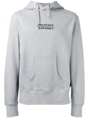Logo back hoodie Belstaff. Цвет: серый
