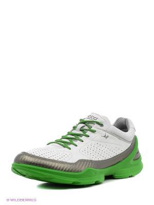 Кроссовки ECCO. Цвет: зеленый, серебристый, белый