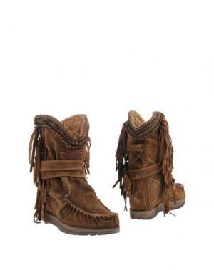 Полусапоги и высокие ботинки EL VAQUERO. Цвет: коричневый
