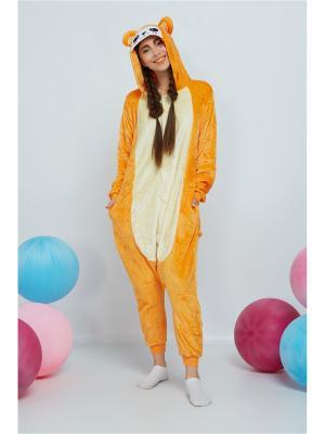 Кигуруми Счастливый Медвежонок Nothing but Love. Цвет: оранжевый, светло-желтый