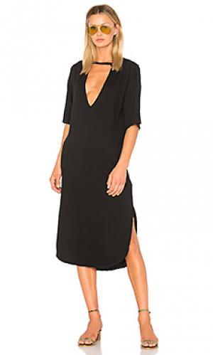 Платье-майка lana rose Stillwater. Цвет: черный