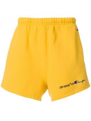 Спортивные шорты Off-White. Цвет: жёлтый и оранжевый