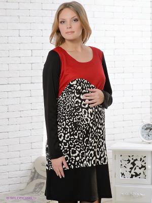 Платье Gemko. Цвет: черный, красный