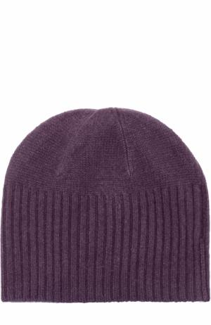 Кашемировая шапка бини Allude. Цвет: темно-фиолетовый