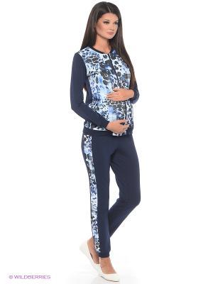 Костюм для беременных ФЭСТ. Цвет: темно-синий, черный