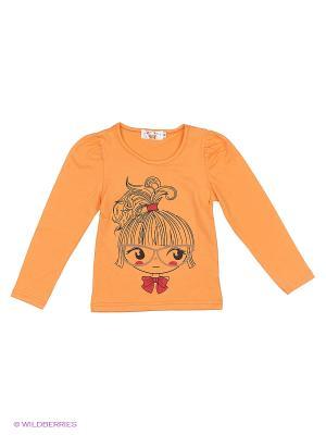 Лонгслив Happy Bear. Цвет: светло-оранжевый