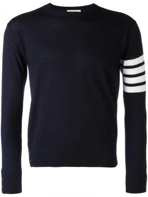 Джемпер с полосками на рукавах Thom Browne. Цвет: синий