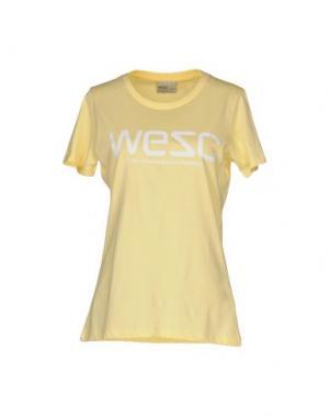 Футболка WESC. Цвет: светло-желтый