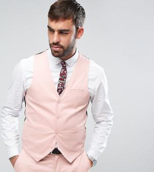 Only & Sons Супероблегающий жилет из хлопкового сатина. Цвет: розовый