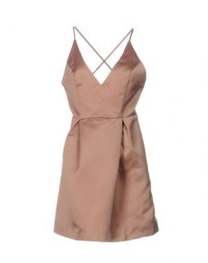Короткое платье ANNA F.. Цвет: телесный