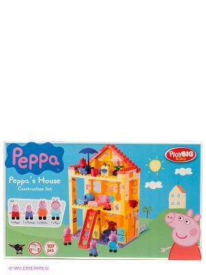 Конструктор любимый дом Peppa Pig BIG. Цвет: розовый, зеленый, голубой