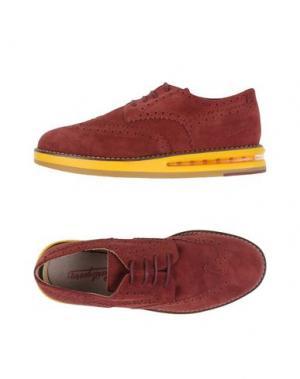 Обувь на шнурках BARLEYCORN. Цвет: красно-коричневый