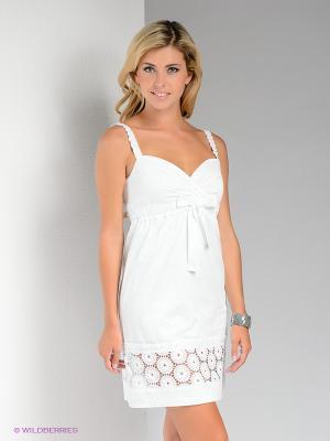 Платье Bize. Цвет: белый