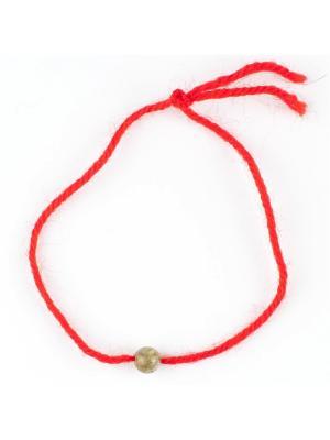 Браслет Красная нить лабрадор Колечки. Цвет: серый