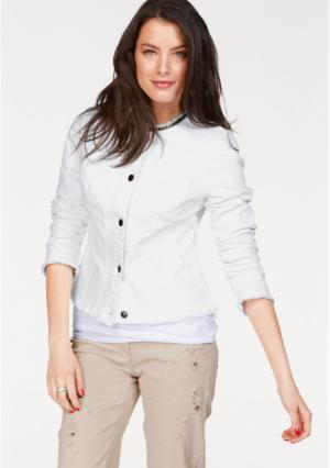 Джинсовая куртка VIVANCE. Цвет: белый