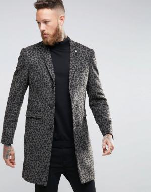 Noose & Monkey Пальто с леопардовым принтом. Цвет: золотой