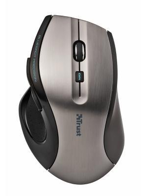 Мышь Trust MaxTrack Wireless Mouse silver/black USB. Цвет: серебристый, черный